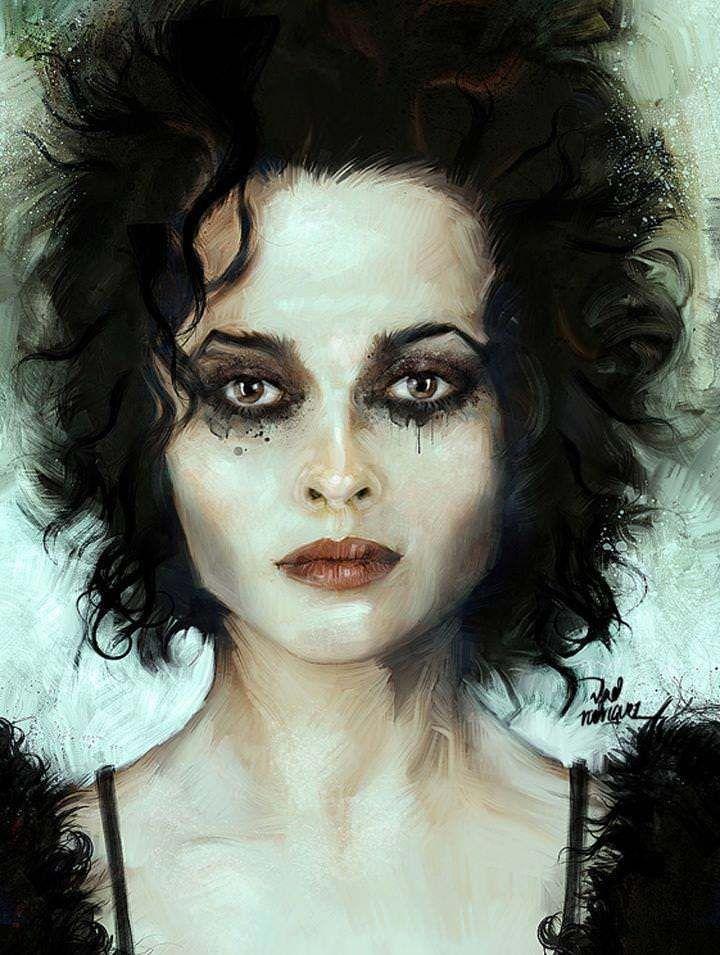 helena bonham carter makeup | Helena Bonham Carter Fight Club