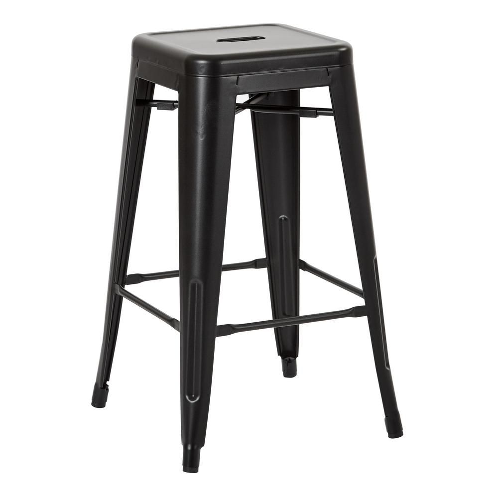 Office Star Products Bristow 26 In Matte Black Antique Metal