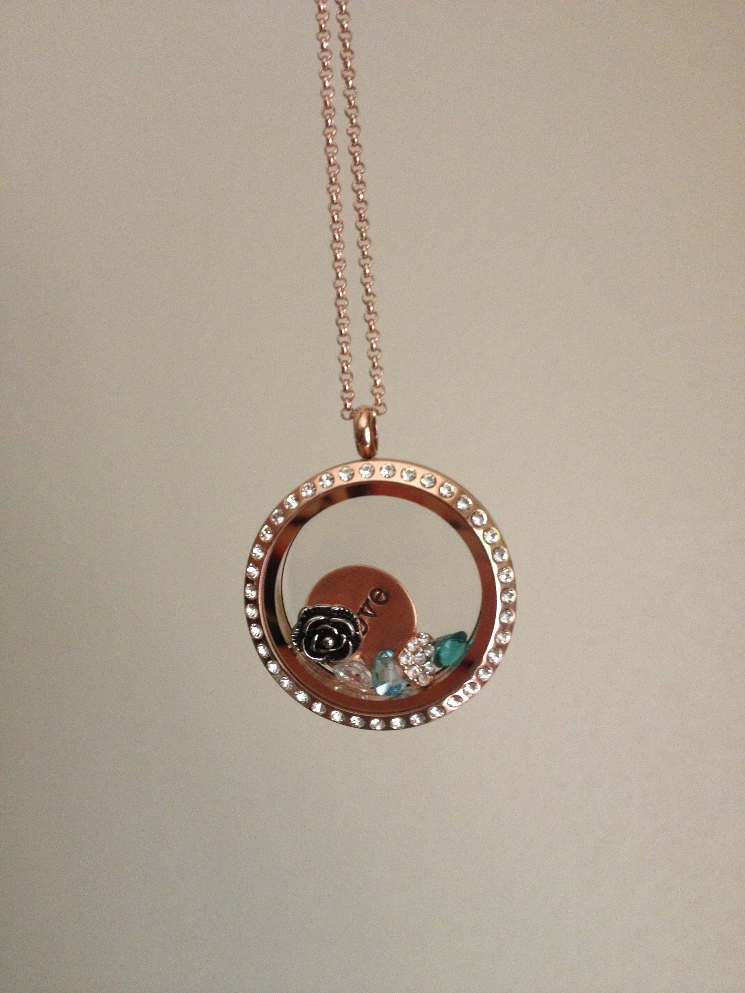 My new Origami Owl Living Locket in Rose Gold