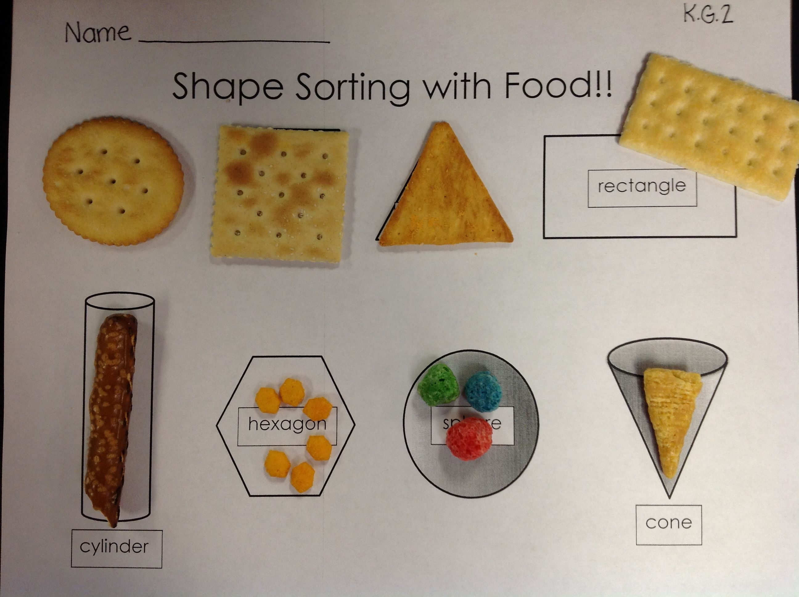 Have Your Shapes And Eat Them Too 2d Amp 3d Shape