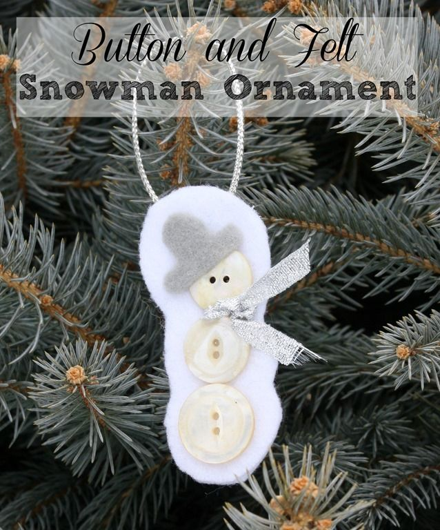 Woodland Elf Christmas Ornament Felt snowman, Ornament and Snowman