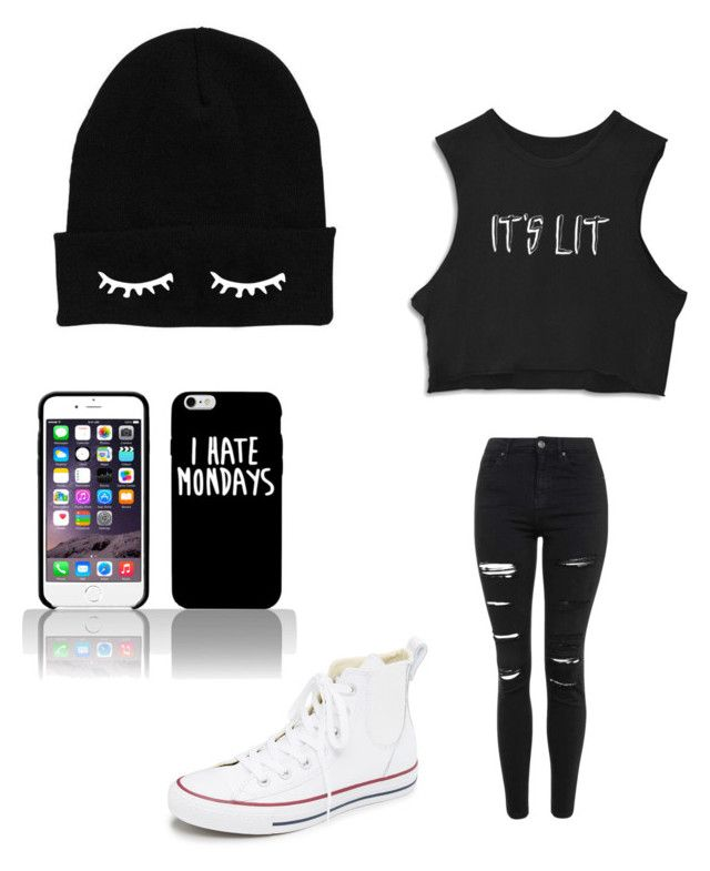 """""""Untitled #5"""" by vieveg on Polyvore featuring Topshop, Converse, women's clothing, women's fashion, women, female, woman, misses and juniors"""