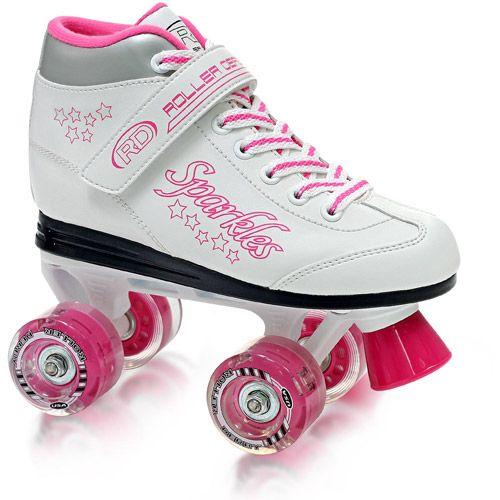 Sparkle Girls\' Lighted Wheel Roller Skates - Walmart.com | Kids ...