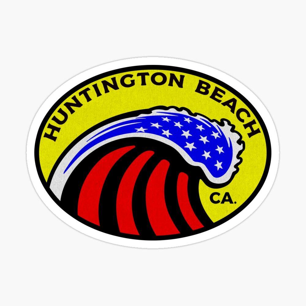 Huntington Beach California Surfing Surf Patriotic Wave Glossy Sticker By Dd2019 In 2021 Newport Beach California Huntington Beach California California Surf [ 1000 x 1000 Pixel ]
