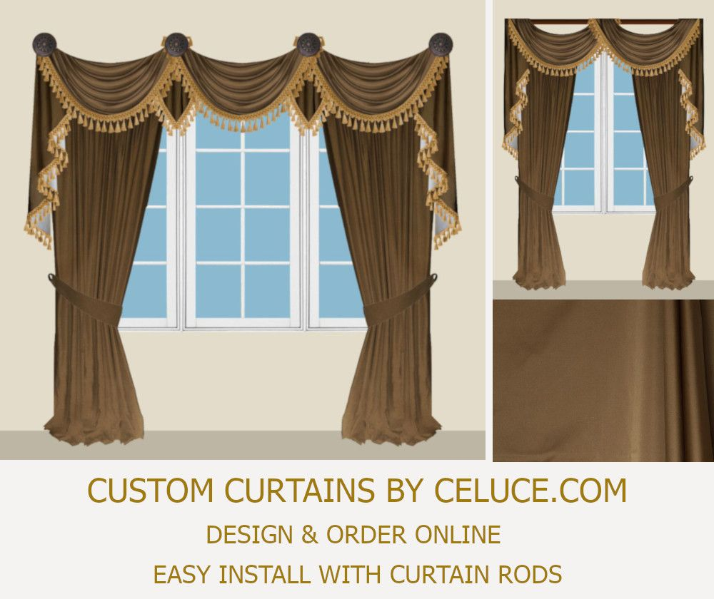 Customize Order Online Easy Install With Regular Curtain Rods