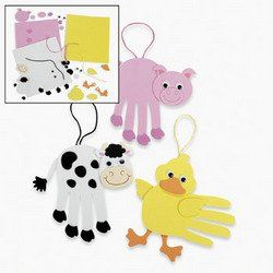 "Lot of 12 Foam Farm Animal Handprint Craft Kit Art Activity by Fun Express. $8.99. Measures 5 1/2""Includes self-adhesive pieces"