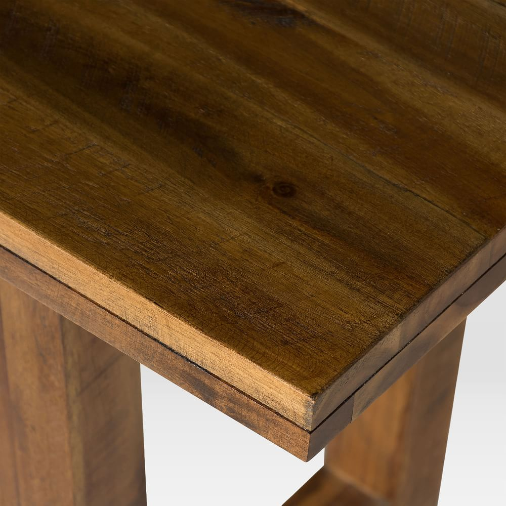 Logan Industrial Expandable Dining Table Natural Expandable