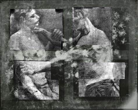 Van Gogh - x-ray discovers image of wrestlers