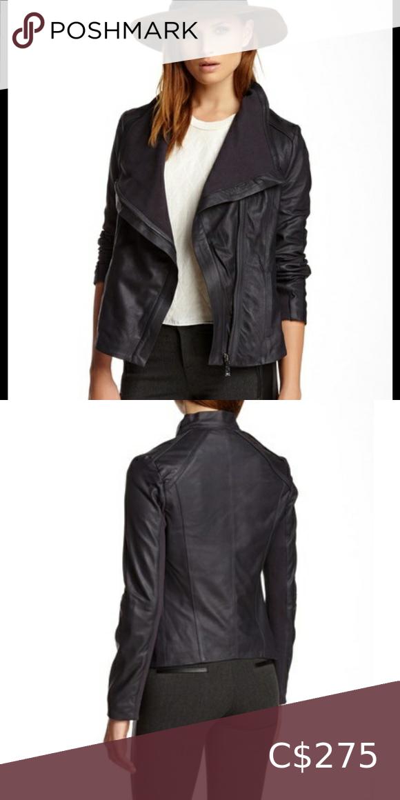 Elie Tahari Andreas Leather Jacket