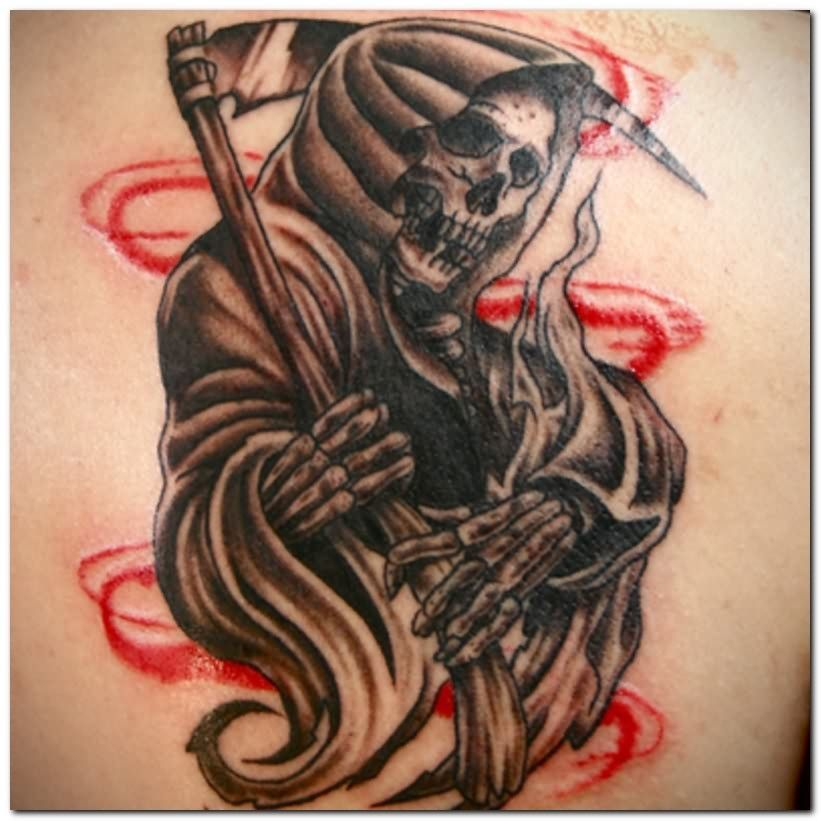 Grim Reaper Tattoo Grim reaper tattoo, Reaper tattoo