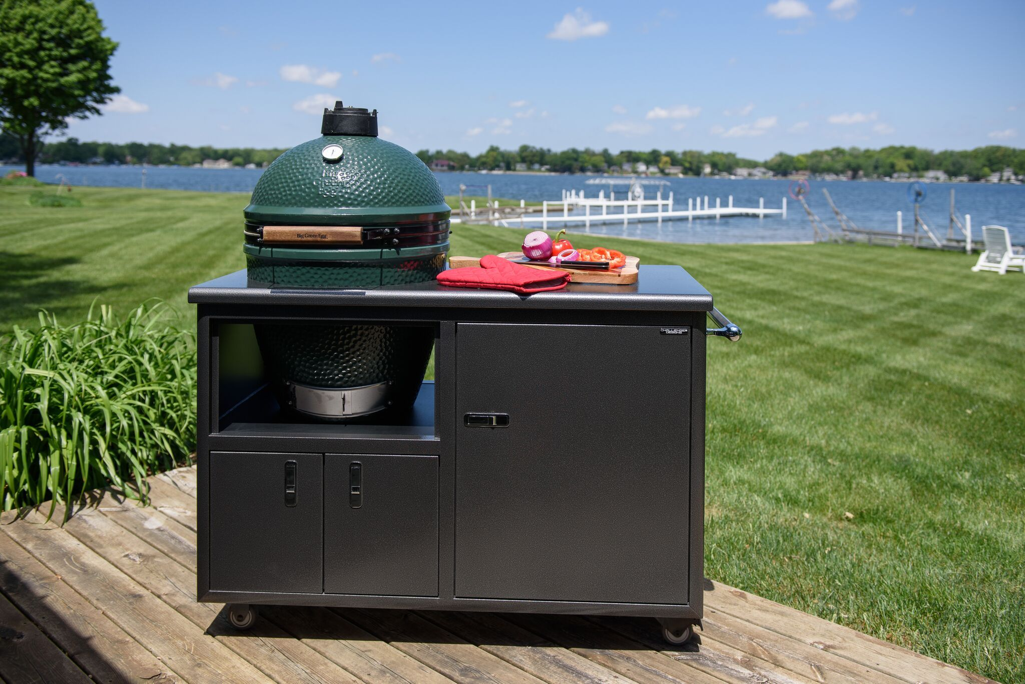 Pin By Challenger Designs Llc On Weatherproof Grill Carts By Challenger Designs Kamado Grill Recipes Ceramic Grill Kamado Grill
