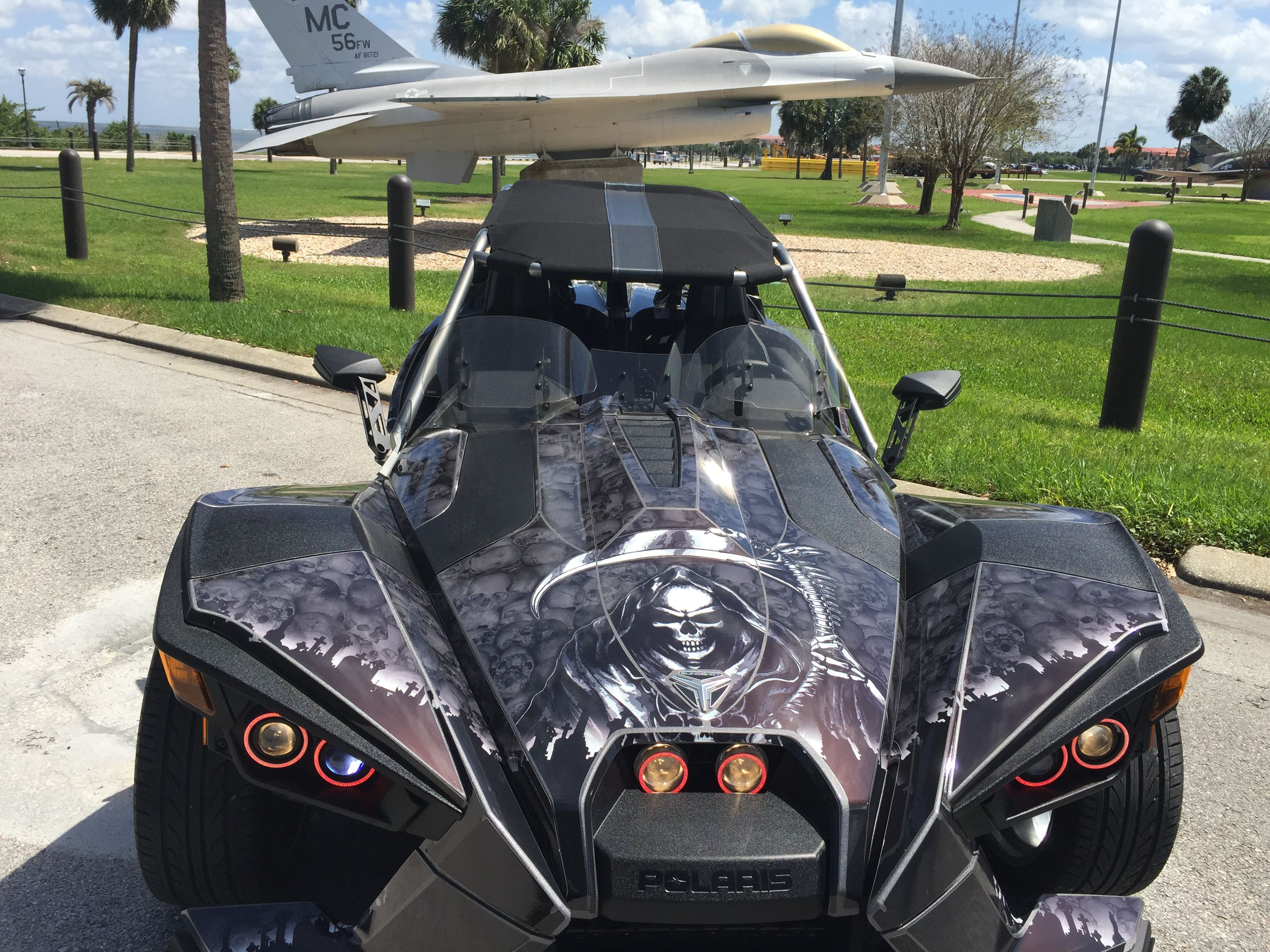 Tampa Reaper Thanks Cycle Springs The Sound System Is Amazing Polaris Slingshot Reverse Trike Slingshot Car