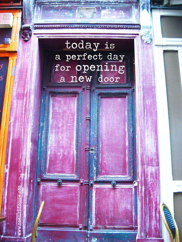 Opening A New Door Quote Coeurblonde Jpg 608 811 Door Quotes