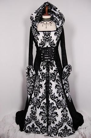 I found 'goth inspired wedding dress' on Wish, check it out!