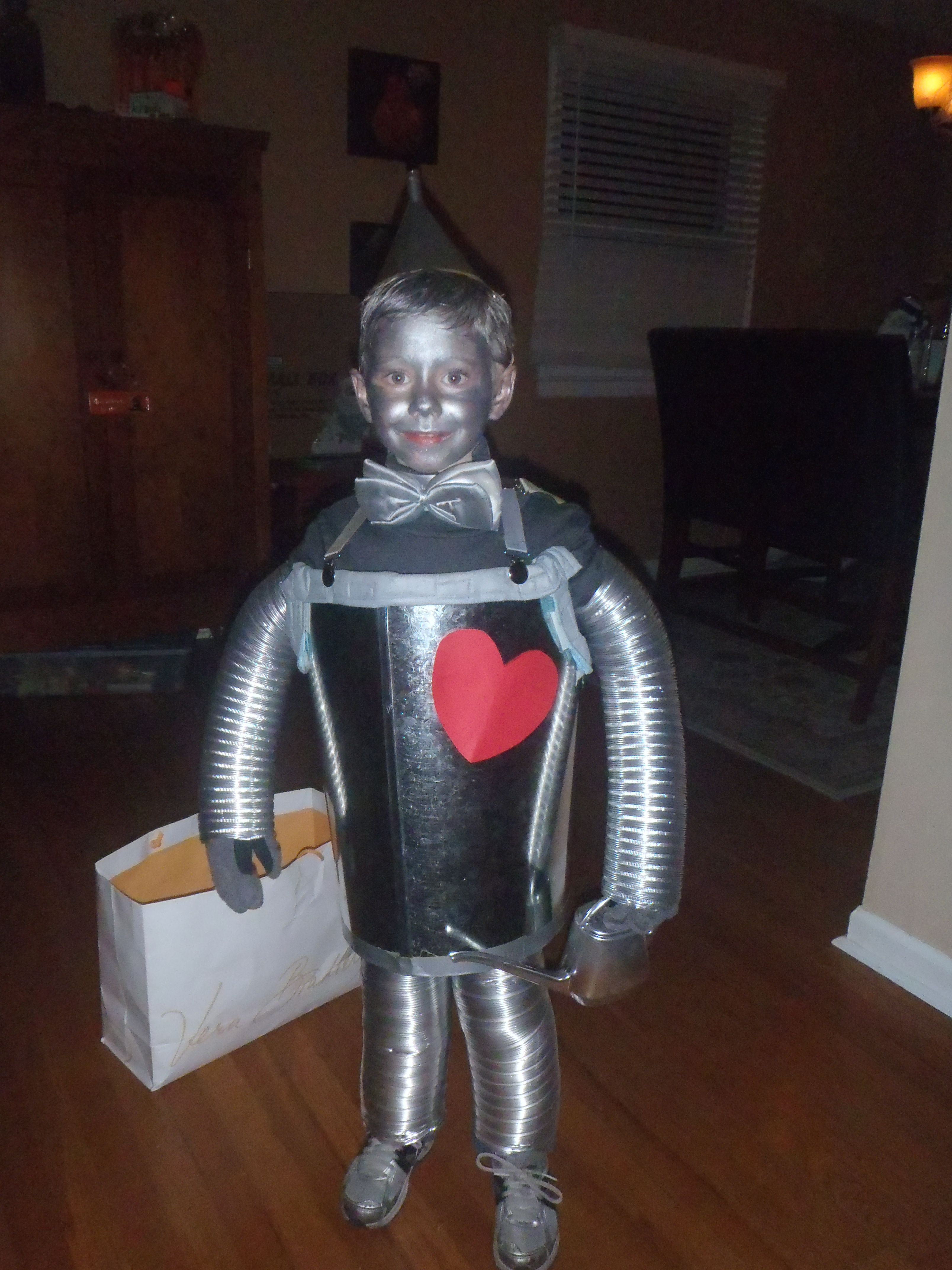 Tin Man Costume Made With Items From Home Depot Metallic