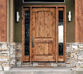 rustic entry door with sidelights | For the Home | Pinterest ...