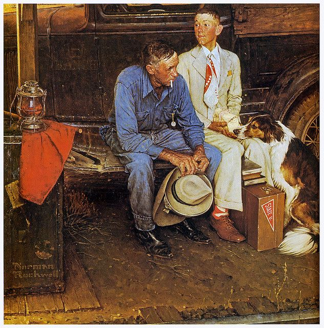 1954 Breaking Home Ties By Norman Rockwell Norman Rockwell Paintings Norman Rockwell Art Rockwell Paintings
