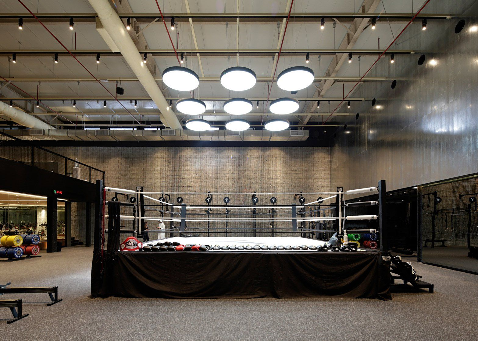 Lab100 Design Studio Creates Kuwait Boxing Gym Boxing Gym Gym Lighting Boxing Gym Design