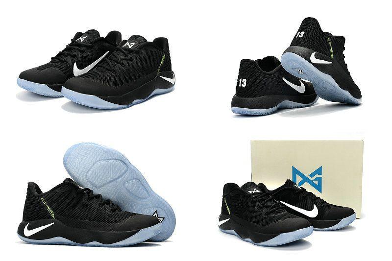 huge selection of ef309 a9b69 2018 Original Nike PG 2 II Oreo Black White Paul George Shoes 2017 New Style