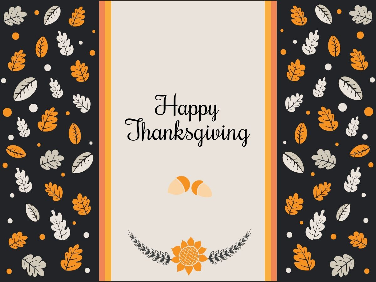 Hazelnuts And Leaves On A Personalizable Thanksgiving Card Template For A Facebook Post Happy Tha Thanksgiving Cards Happy Thanksgiving Thanksgiving Greetings