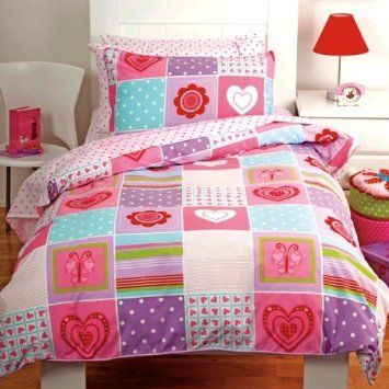 Amazon Com Patchwork Butterfly Hearts Pink Multi