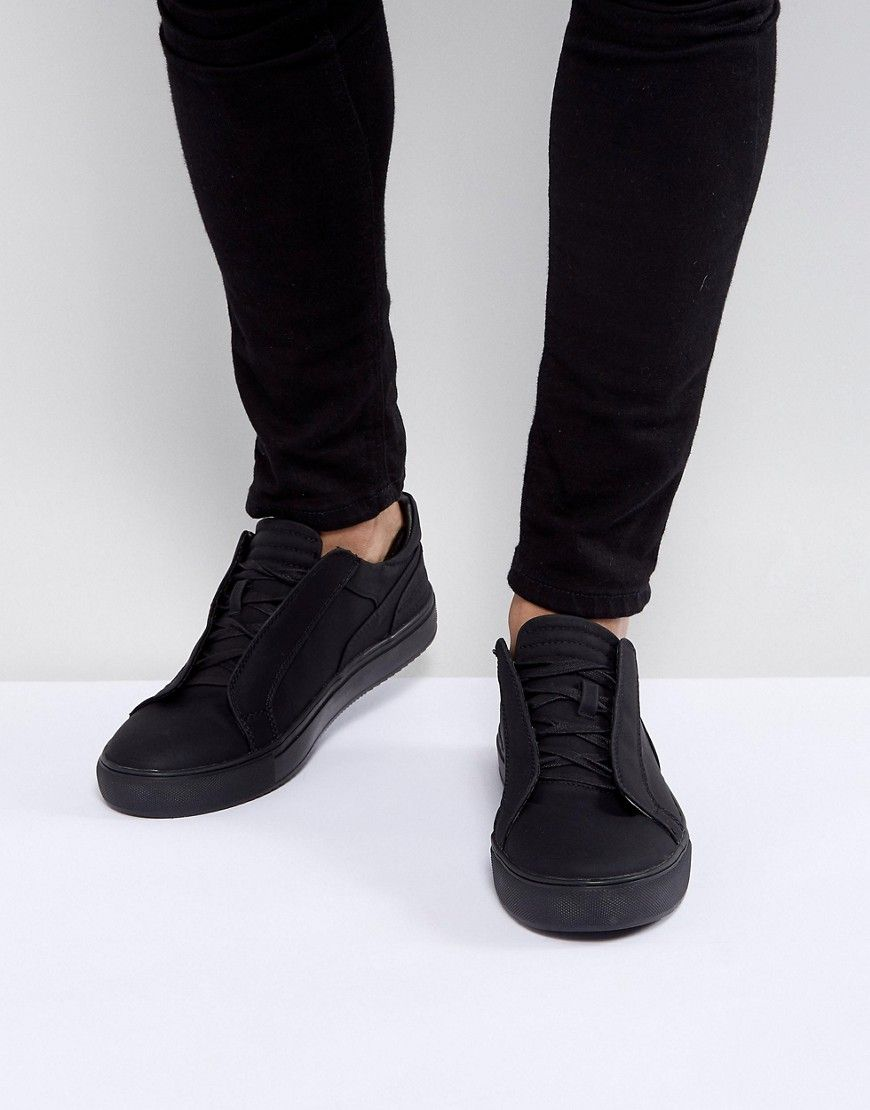 0bb70253432 STEVE MADDEN DEVIDE SNEAKERS IN BLACK - BLACK. #stevemadden #shoes ...