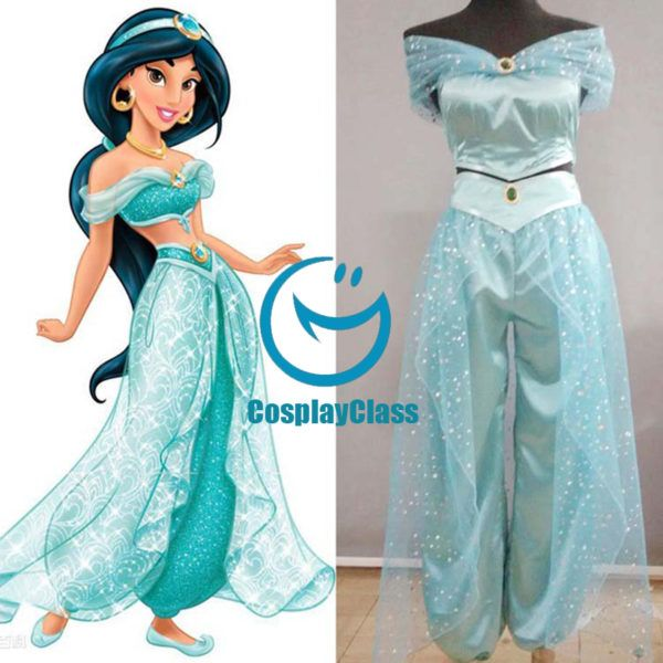 Disney Aladdin Jasmine Cosplay Costume Cosplayclass Dress Halloween Costume Princess Jasmine Costume Disney Princess Costumes