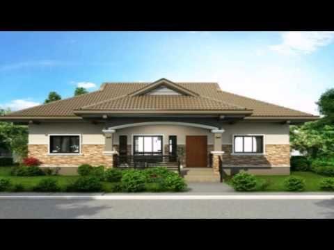 One Storey House Design With Floor Plan Philippines Youtube Desain Rumah Bungalow Denah Lantai Rumah Denah Rumah Small bungalow house design with floor plan philippines