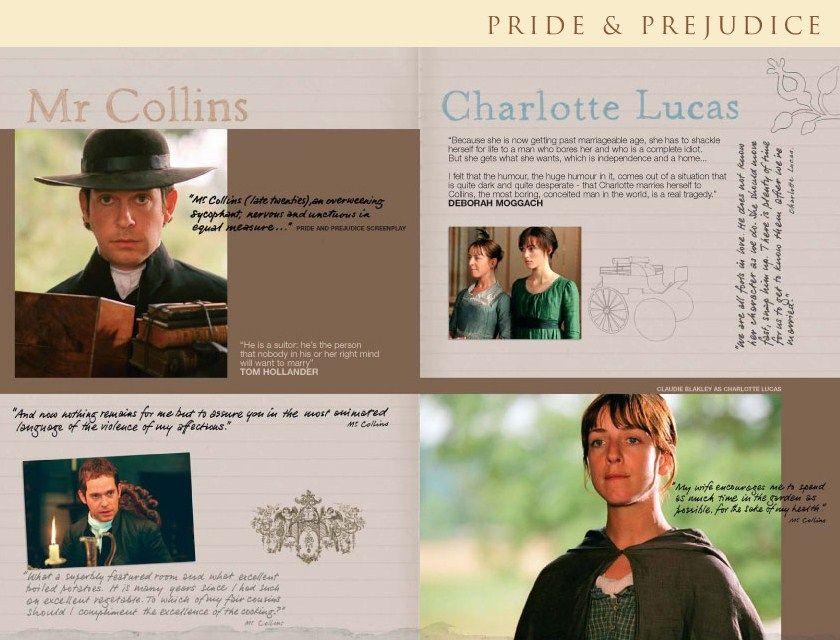 Pride and Prejudice 2005  - online companion - Mr. Collins - Charlotte Lucas - Charlotte Collins - Tom Hollander - Claudie Blakley -  Page 18