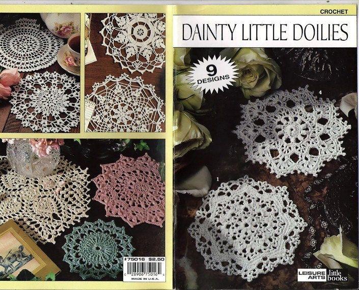 Dainty Little Doilies Crochet Pattern Book Leisure Arts Leaflet ...
