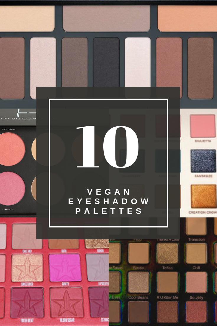 10 Carmine free eyeshadow palettes that are fully vegan