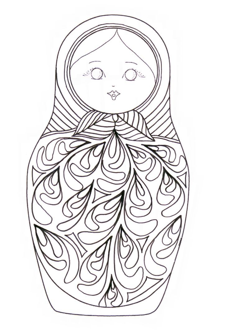 32 coloriage matriochka coloriage imprimer vol 6401 for Poupee russe