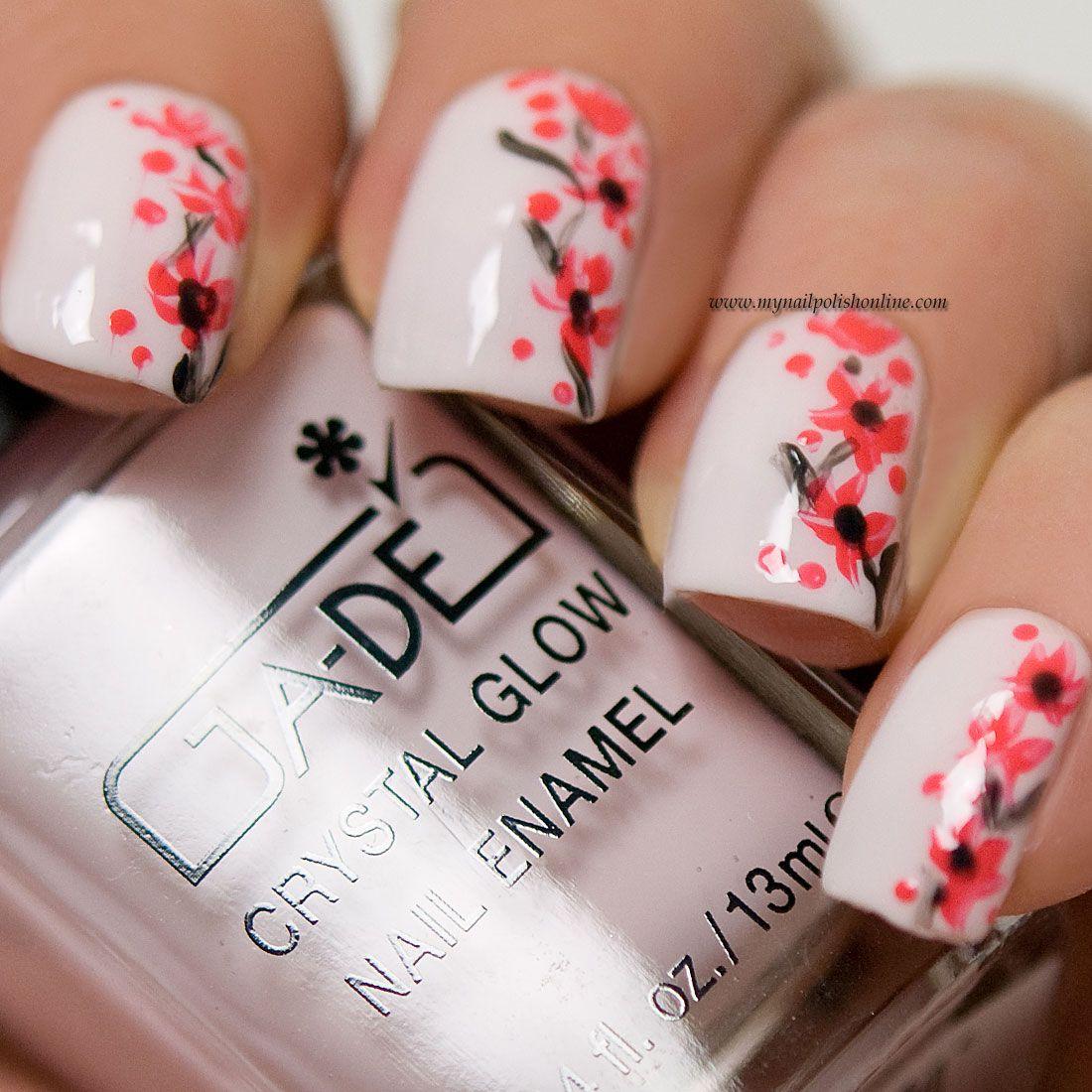 Floral nail art (My Nail Polish Online) | Nail polish online ...