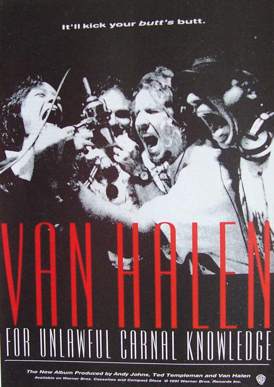 Van Halen Promotional Ad Https Www Facebook Com Fromthewaybackmachine Van Halen Eddie Van Halen Van Halen 5150