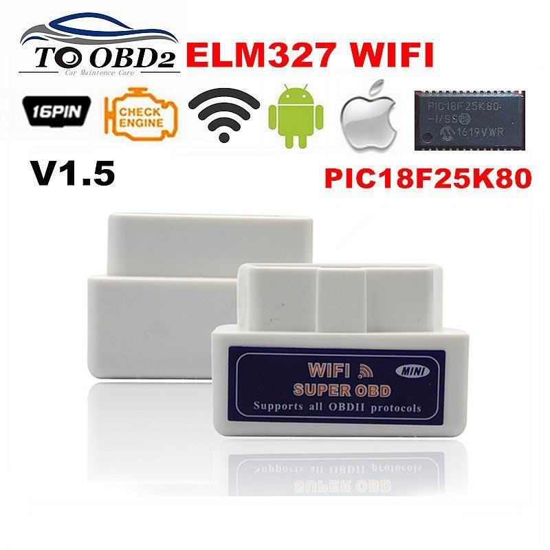 ELM327 WIFI PIC18F25K80 Chip Works Diesel Cars (Custom
