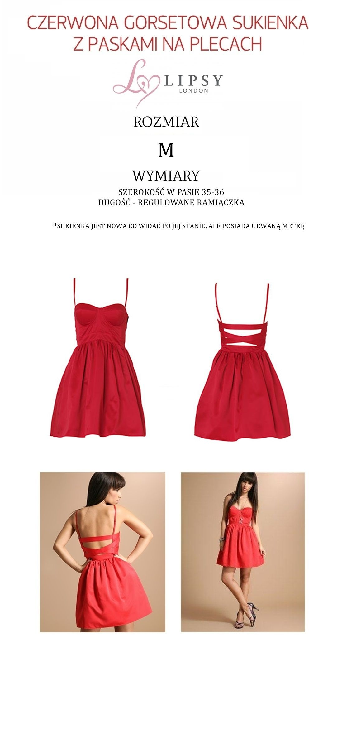 Czerwona Rozkloszowana Sukienka Lipsy London 38 M 5161426466 Oficjalne Archiwum Allegro Fashion Summer Dresses Dresses