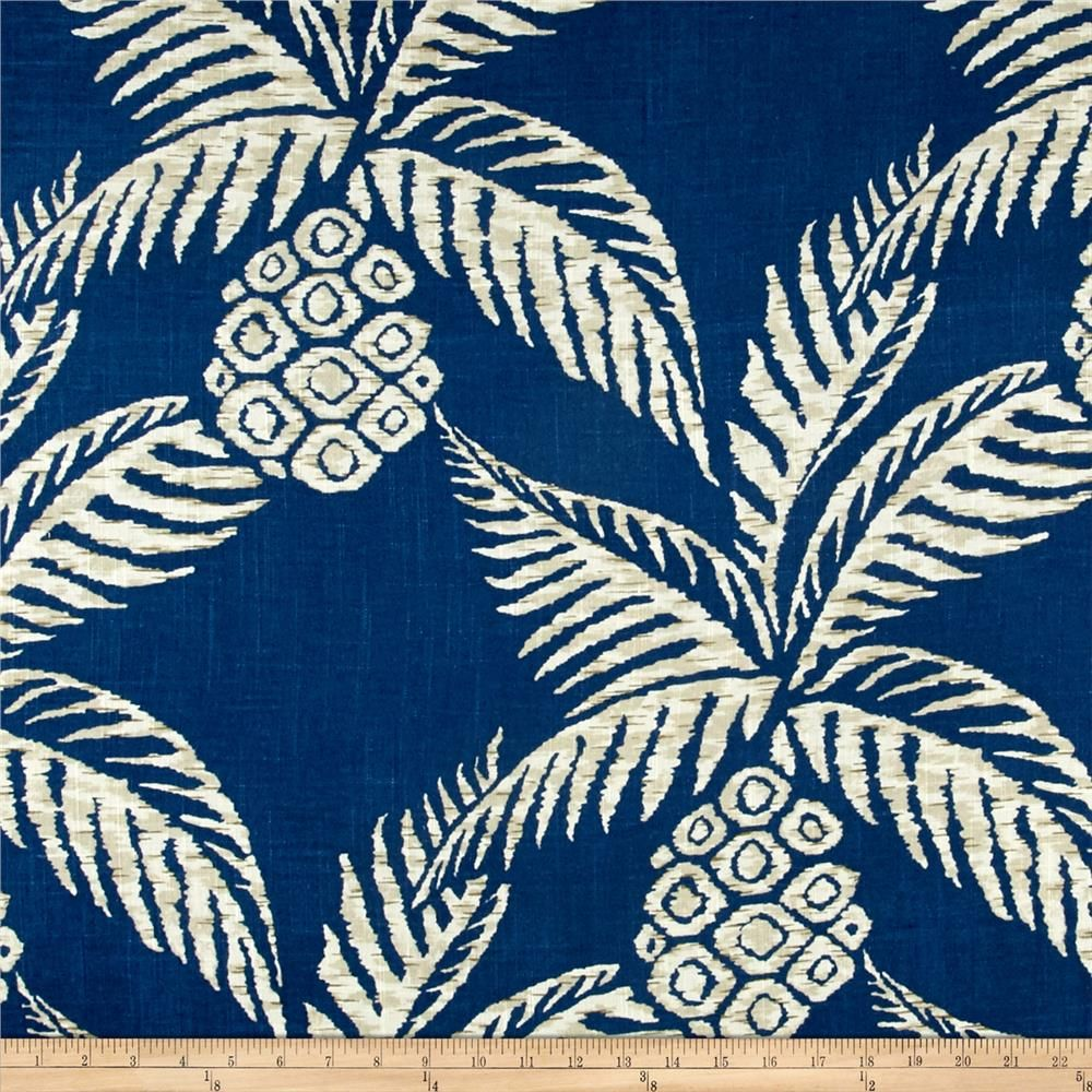 Duralee Pina Pineapple Navy In 2019 Tropical Curtains