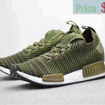 X scarpe uomini adidas nmd r1 pk 2018 bsf impulso giungla verde bianco