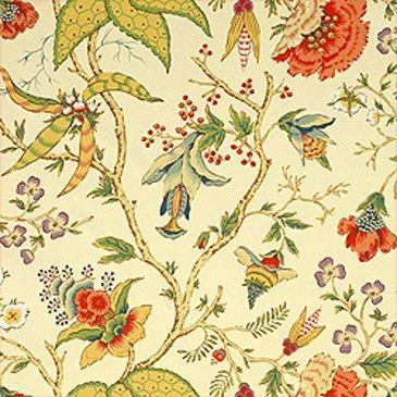 papier peint chinoiserie floral thibaut malesherbes. Black Bedroom Furniture Sets. Home Design Ideas