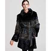 "Christian Cota for Maximilian 33"" Mink Coat with Leather Belt"