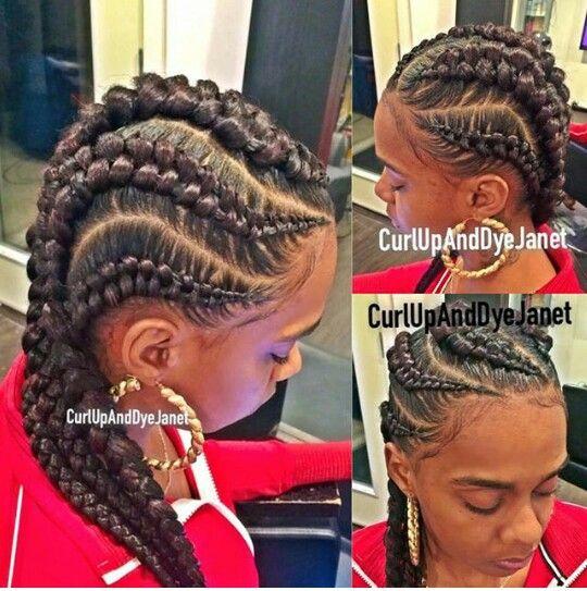 I believe she called them zipper braids??? Lol