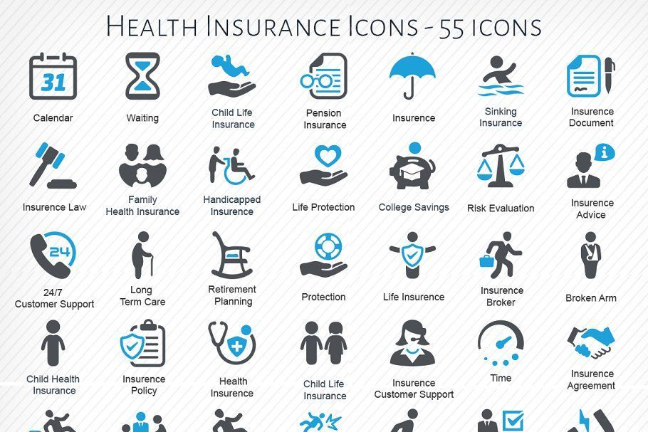 Most current photos ad health insurance icons by