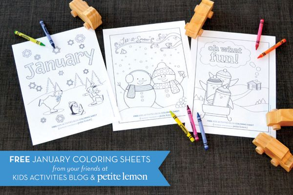 FREE COLORING SHEETS: Winter Themed Coloring Sheets from Petite Lemon
