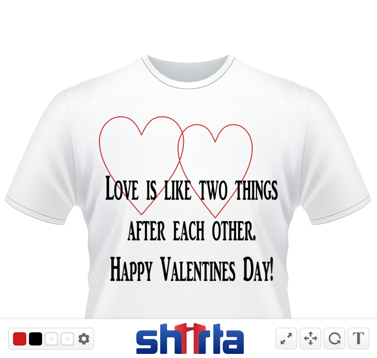 two hearts joined in design with text love is like two things after each other happy valentines day