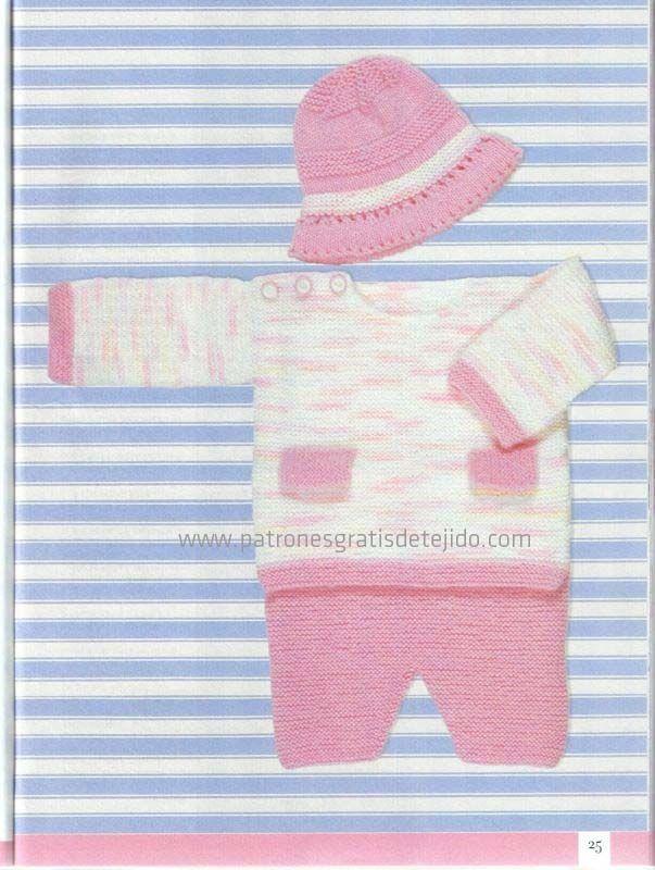Preparamos el ajuar para el bebé con dos agujas y crochet. Más de 50 ...