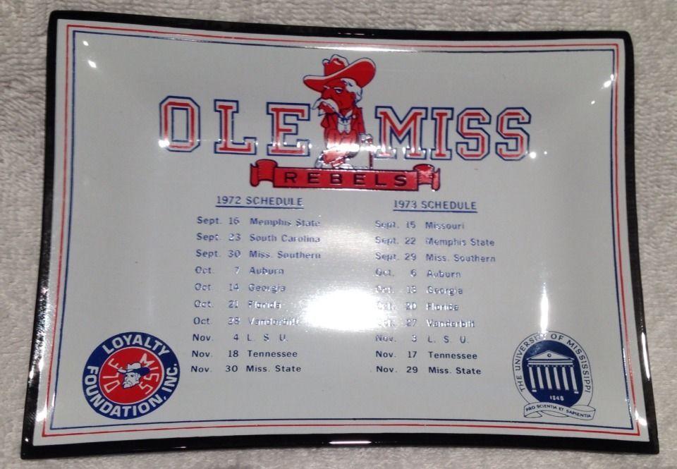 Vintage Ole Miss Rebels Football University Mississippi