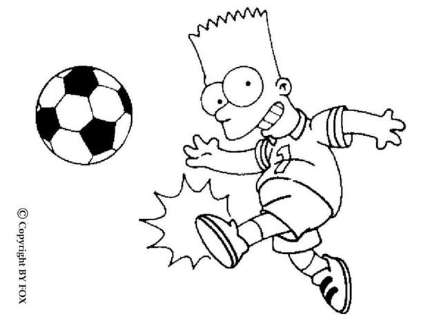 Bart Playing Football Coloring Page Do You Like This There Are Many Others In THE SIMPSONS Pages