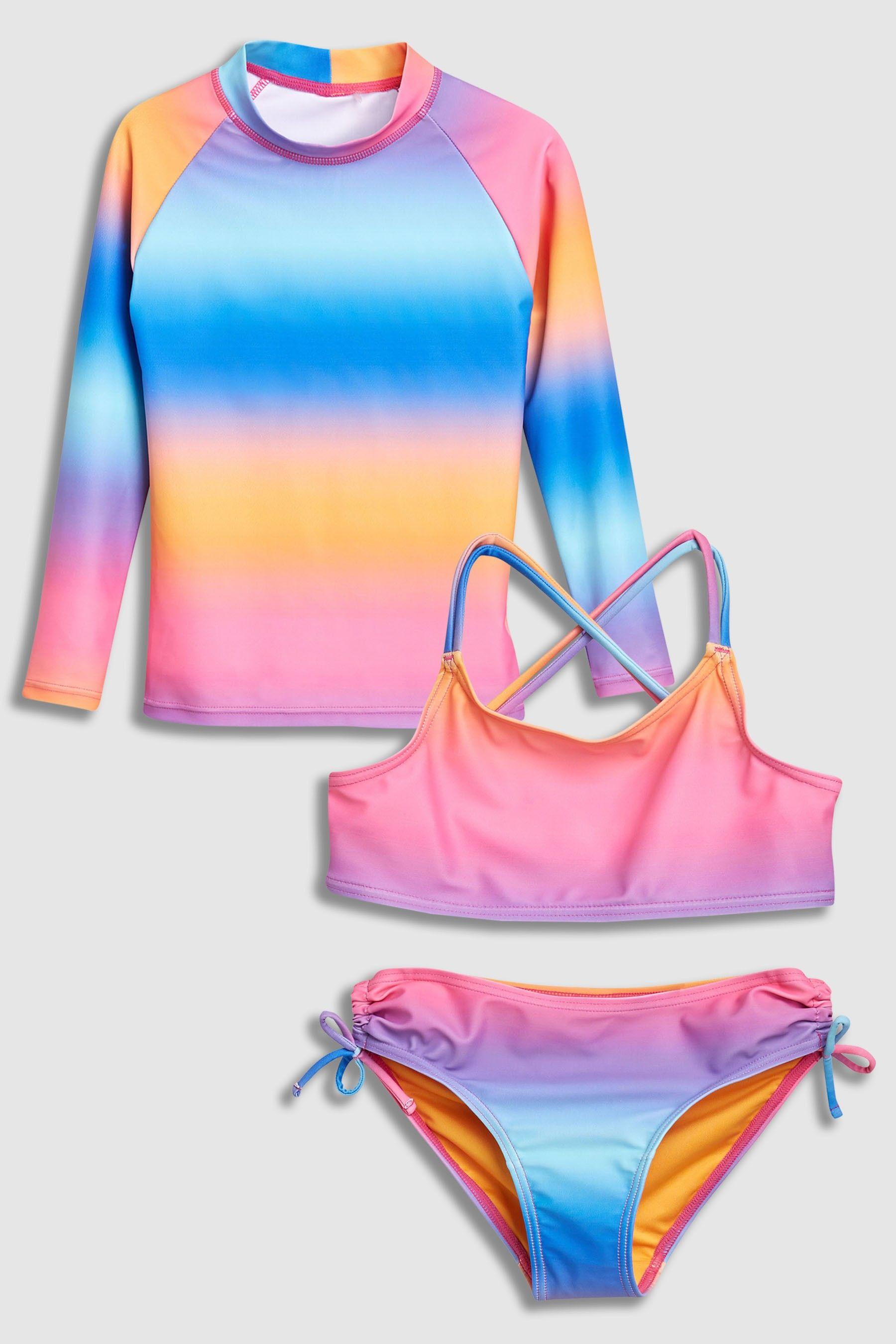 7e5c334a6cca0 Girls Next Ombre Three Piece Sunsafe Set (3-16yrs) - Blue | Products ...