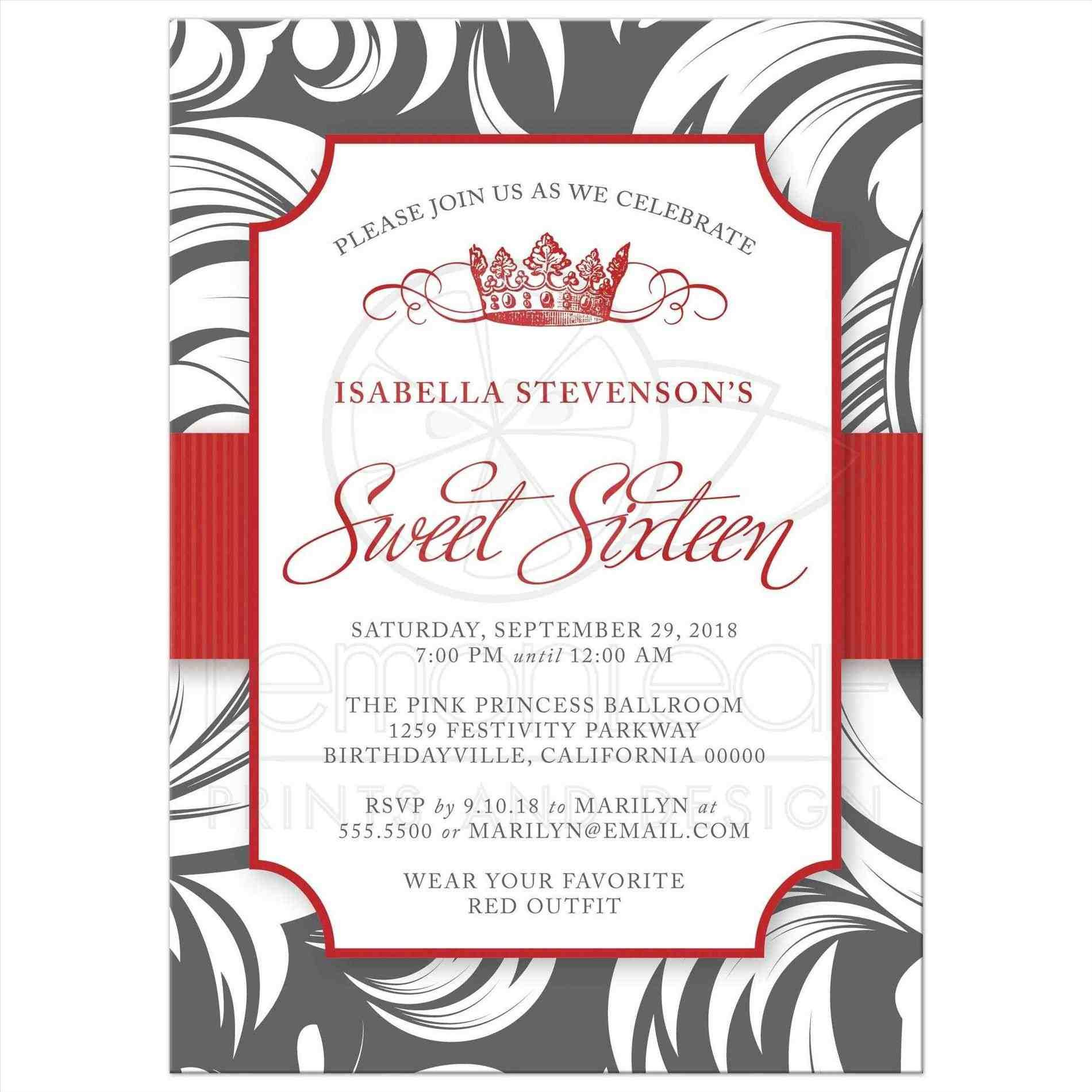 fancy funny birthday invitations gray card with pink florals wedding ...