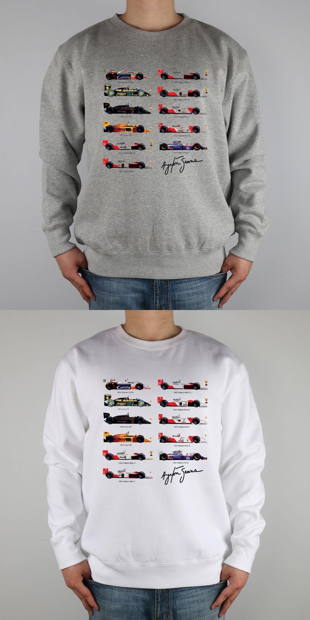 36eb46ab942 All F1 Ayrton Senna sennacars Sweatshirts Thick Combed Cotton ...